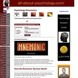 Psychology Mnemonics