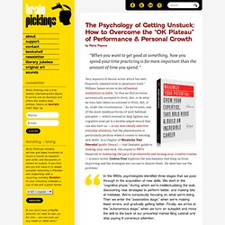 "The Psychology of Getting Unstuck: How to Overcome the ""OK Plateau"" of Performance & Personal Growth"