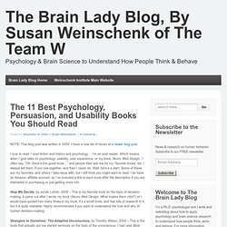 The 11 Best Psychology, Persuasion, and Usability Books You Should Read