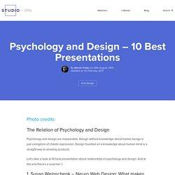 Psychology and Design - 10 Best Presentations