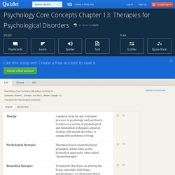 Print › Psychology Core Concepts Chapter 13: Therapies for Psychological Disorders