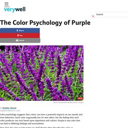 Color Psychology of Purple - Impact on Mood and Behavior