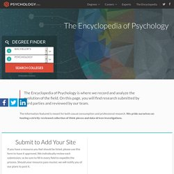 The Encyclopedia of Psychology