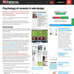 Psychology of rewards in web design