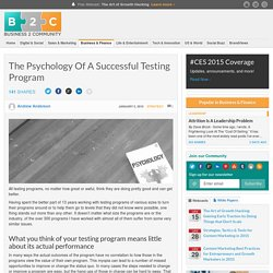 The Psychology Of A Successful Testing Program
