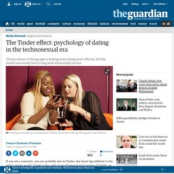 The Tinder effect: psychology of dating in the technosexual era