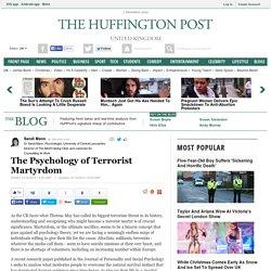 The Psychology of Terrorist Martyrdom