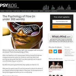 The Psychology of Flow (in under 300 words)