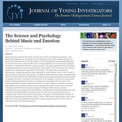 The Science and Psychology Behind Music and Emotion