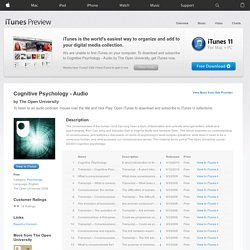 Cognitive Psychology - Audio - Download free content from The Open University