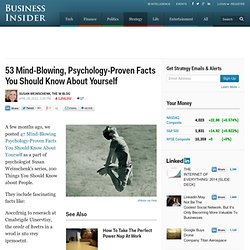 Psychology: 53 Mind-Blowing Things You Should Know About Yourself