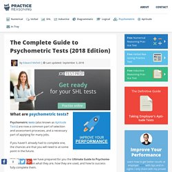 Psychometric Tests: The Complete Guide (2018 Edition)