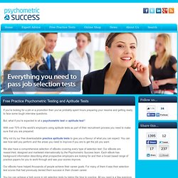 Psychometric Testing | Aptitude Tests | Free Aptitude Test | Psy
