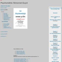 La psychométrie, ouvrage de référence par Robert SIMONNET et Denise GUYOT
