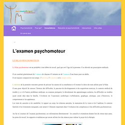 L'examen psychomoteur | psychomotricité Marie-Noëlle Brigot Lille Villeneuv