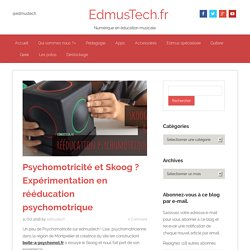 Psychomotricité & Skoog ? Expérimentation en rééduc psychomotrique