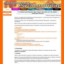 PSYCHOMOTRICITÉ