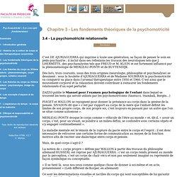 Psychomotricité: Les concepts fondamentaux - Eléments théorique