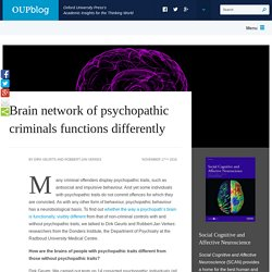 Brain network of psychopathic criminals functions differently