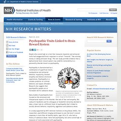 Psychopathic Traits Linked to Brain Reward System - NIH Research Matters
