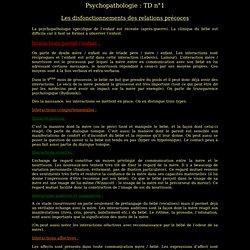 Psychopathologie : TD n°1