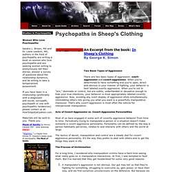 Psychopaths In Sheep's Clothing