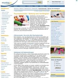 Psychopharmaka: Liste mit Wirkung und Nebenwirkungen