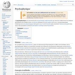 Psychophysique