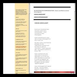 psychorelations.com - Coeur conciliant ou Coeur intransigeant, négociation à deux ou bien décisions unilatérales