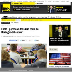 Ebola : psychose dans une école de Boulogne-Billancourt