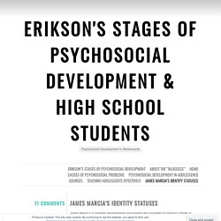 Erikson's Stages of Psychosocial Development & High School Students