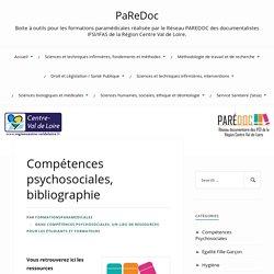 Bibliographie Compétences psychosociales-PaRedoc