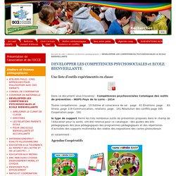 DEVELOPPER LES COMPETENCES PSYCHOSOCIALES et ECOLE BIENVEILLANTE - Site de l'Association Départementale OCCE de l'Ain - AD01