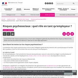 Risques psychosociaux : quel rôle en tant qu'employeur ? - Risques psychosociaux