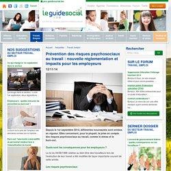 Prévention des risques psychosociaux au travail : nouvelle réglementation et impacts pour les employeurs