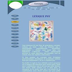 psychosphère - Concepts