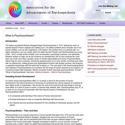 What is Psychosynthesis? — Association for the Advancement of Psychosynthesis