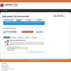 Test psychotechnique - test personnalité - test orientation - test gratuit
