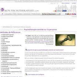 Psychothérapie centrée sur la personne