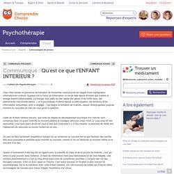 Psychotherapie : Qu'est ce que l'ENFANT INTERIEUR ?
