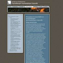 Perception et sensorialité en psychothérapie psychanalytique corporelle