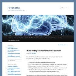 Buts de la psychothérapie de soutien