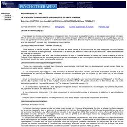 Revue psychotherapies Editions Médecine et Hygiène