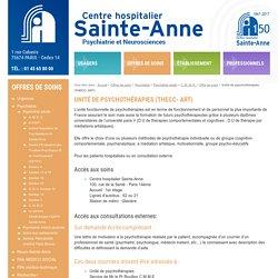 Unité de psychothérapies (THECC- ART) - Offre de soins - C. M. M. E. - Psychiatrie adulte - Psychiatrie - Offres de soins - Centre Hospitalier Sainte Anne