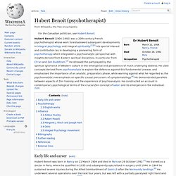 Hubert Benoit (psychotherapist)