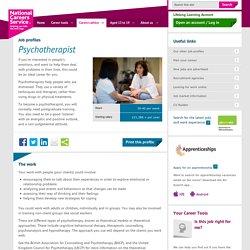 Psychotherapist Job Information