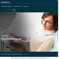 Psychotherapist job profile