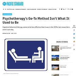 Psychotherapy's Go-To Method Isn't What It Used to Be - Pacific Standard