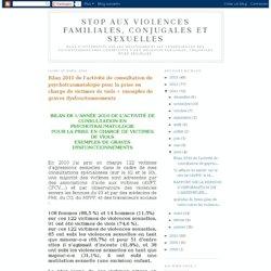 Bilan 2010 de l'activité de consultation de psychotraumatologie pour la prise en charge de victimes de viols + exemples de graves dysfonctionnements