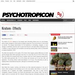 Kratom – Effects – Psychotropicon - Das Online-Magazin für Psychonauten